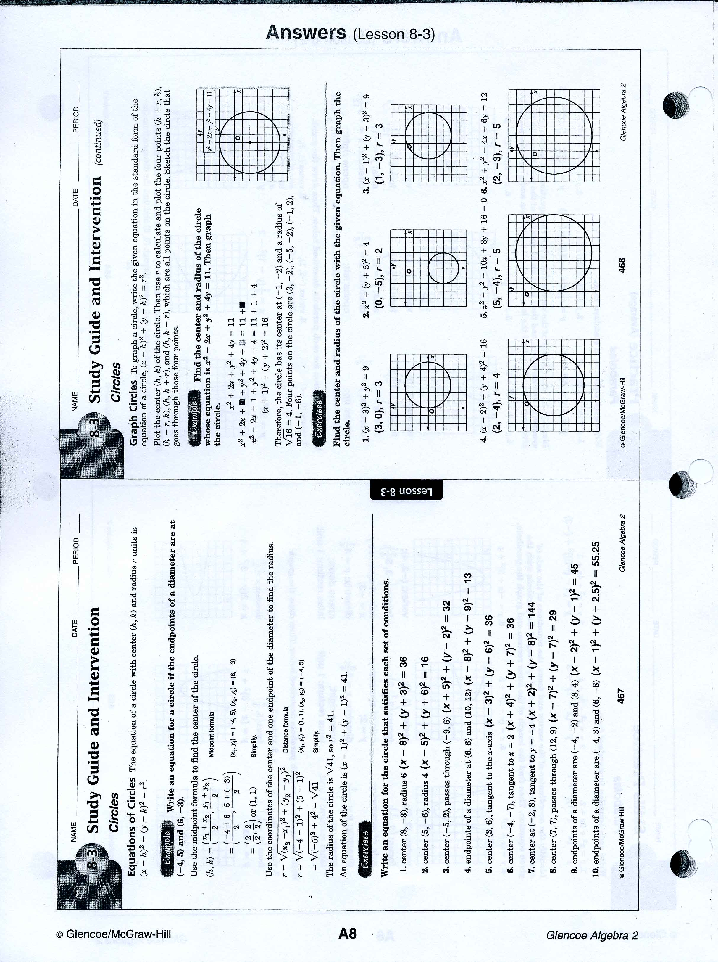 Printables Algebra 2 Worksheets With Answer Key mrscabral algebra 2 worksheet answers worksheets 8 3