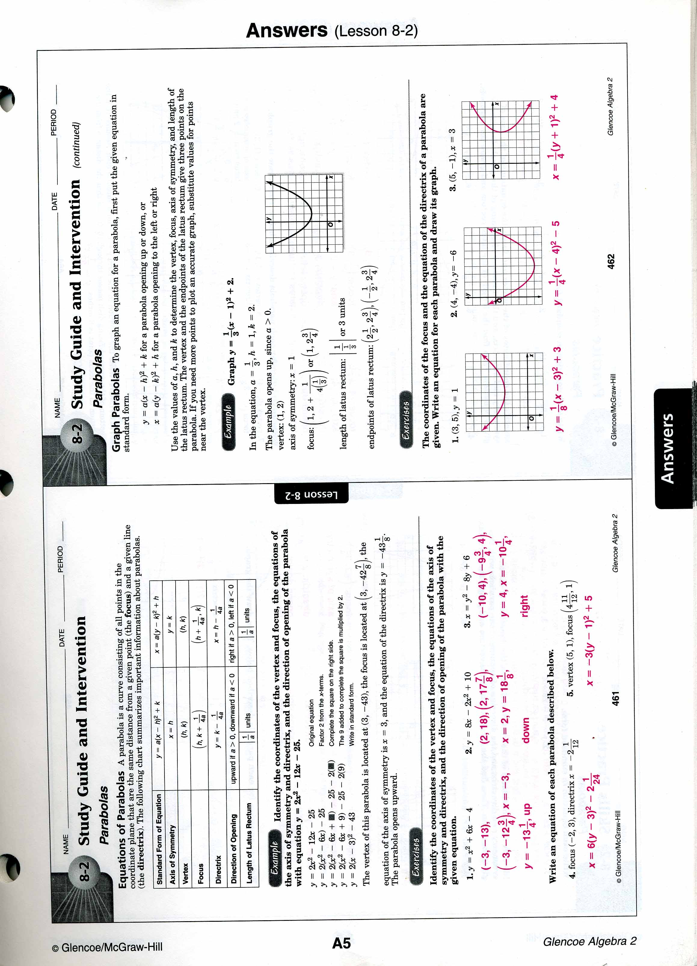 Printables Algebra 2 Worksheets With Answer Key mrscabral algebra 2 worksheet answers worksheets 8 2